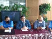 Ketua Umum KMD Aswin Ali Nasution (tengah)/Istimewa