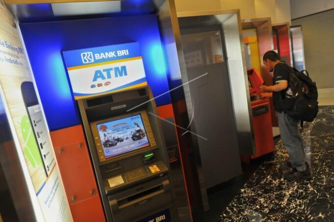 Ilustrasi: ATM Bank Rakyat Indonesia (Persero) Tbk