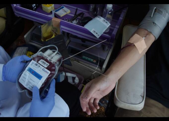 Ilustrasi Transfusi Darah/Antara