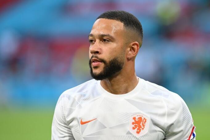 Striker Belanda Memphis Depay/Antara
