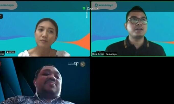 Tata Kelola Ekonomi Digital II Kemenparekraf Muhamad Tidar Hetsaputra dan Direktur Kemanayo Rizal Azhar/Antara