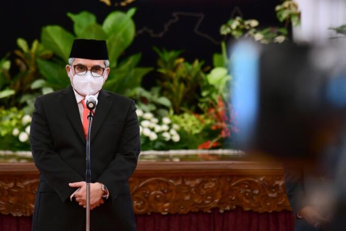 Wakil Menteri Pertanian (Wamentan), Harvick Hasnul Qolbi saat memberikan keterangan pers usai pelantikan di Istana Negara Jakarta, Rabu (23/12/2020)