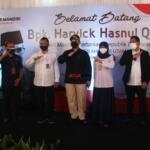 Foto bersama usai penandatangan prasasti oleh Wakil Menteri Pertanian Harvick Hasnul Qolbi, di PT RASS Mandiri, perusahaan yang bergerak di sektor importir daging, di Jl Raden Inten, Jakarta Timur Rabu (15/9). AKTUAL / WARNOTO