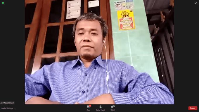 Tangkapan Layar Analis Politik dan Direktur IndoStrategi Research and Consulting, Arif Nurul Imam dalam Dialog Aktual yang bertajuk 'Siapa Layak Jadi Pengganti Megawati', Jakarta, Jumat (10/9) sore.